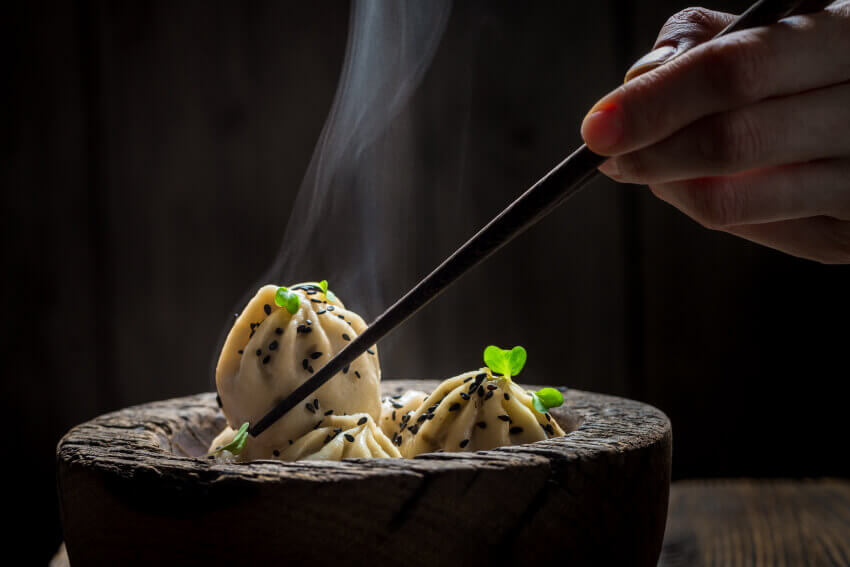Delicious shrimp dumplings - Fusion food in Miami - Japanese and sushi-fusion restaurants - Arigatai